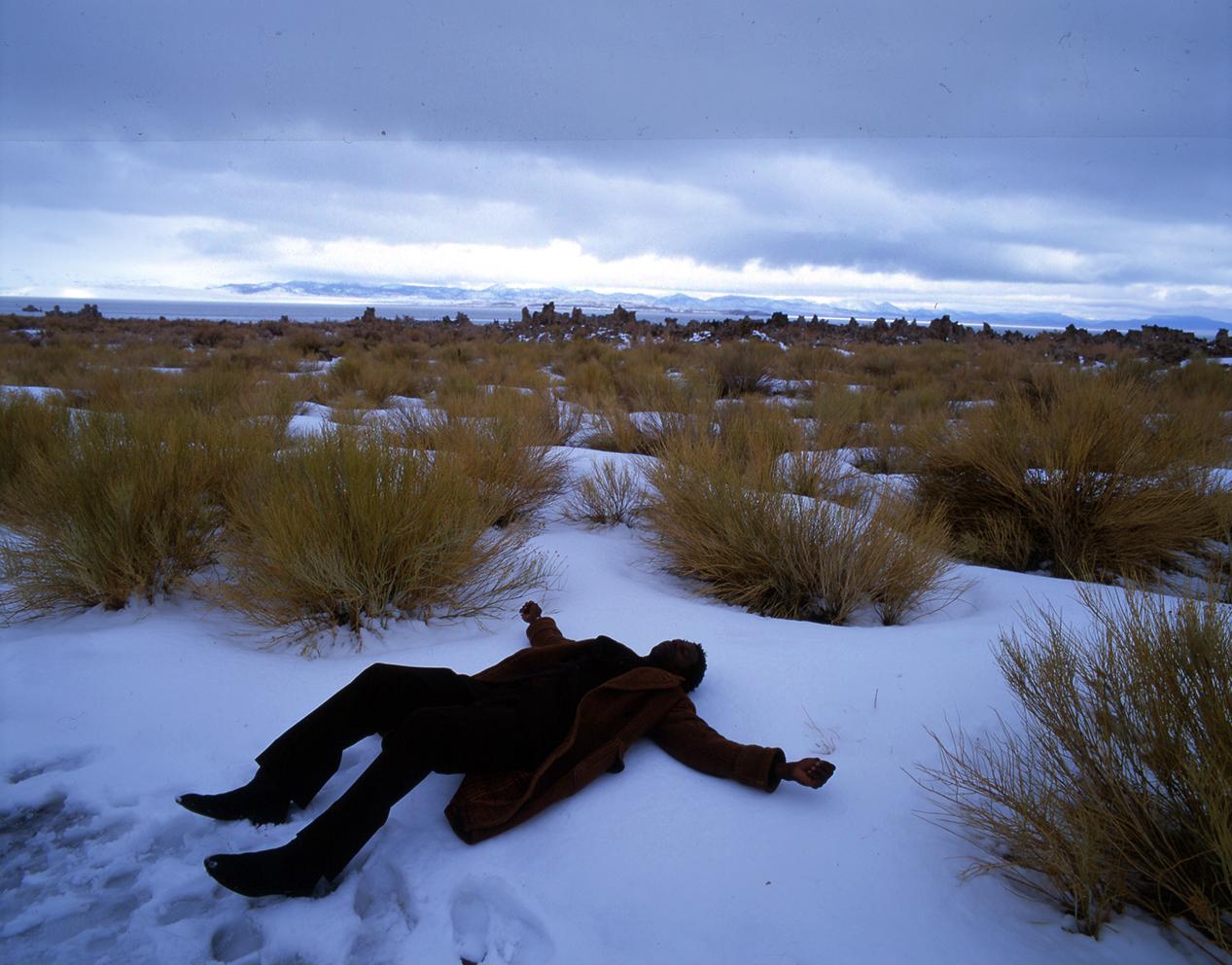 Mono Lake - Omar i sneen